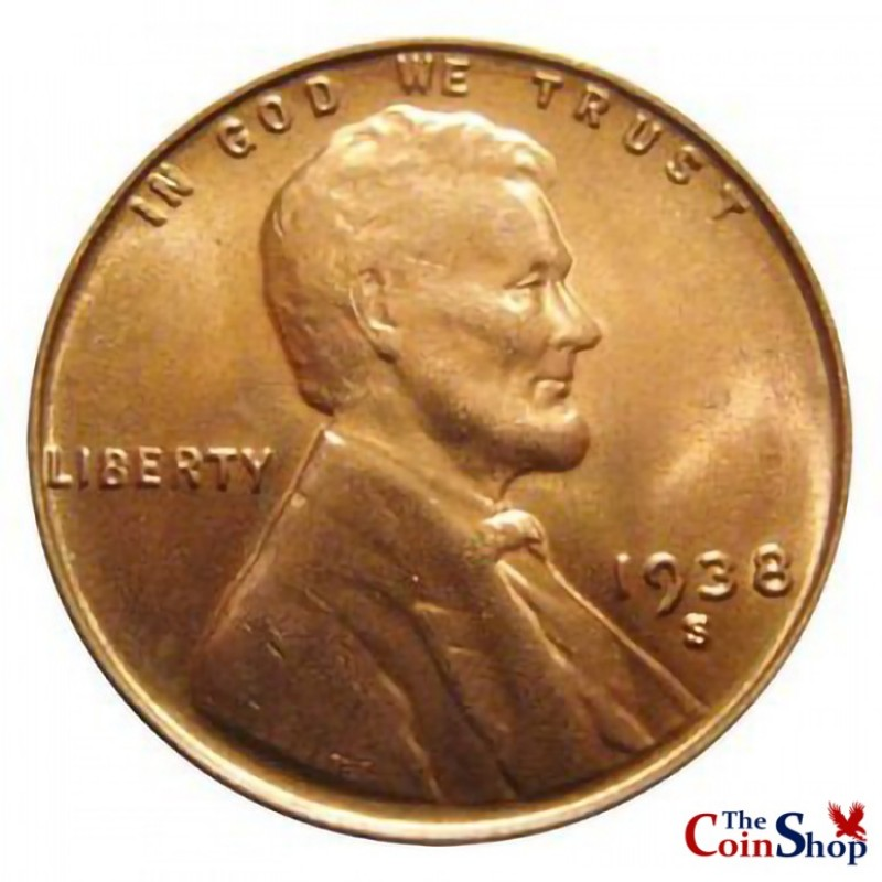 1938-S Lincoln Wheat Cent