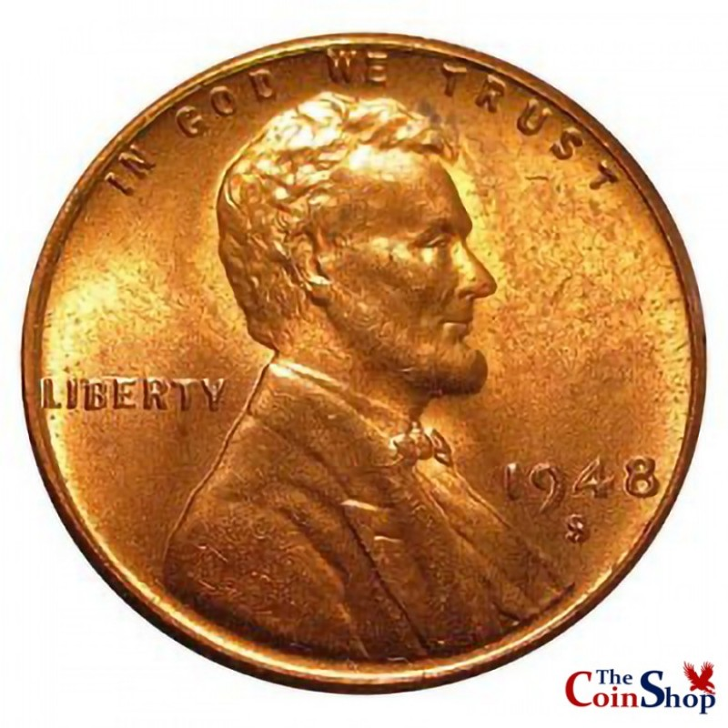 1948-S Lincoln Wheat Cent