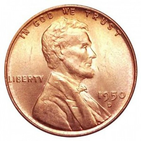 1950-D Lincoln Wheat Cent