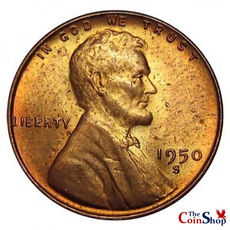 1950-S Lincoln Wheat Cent