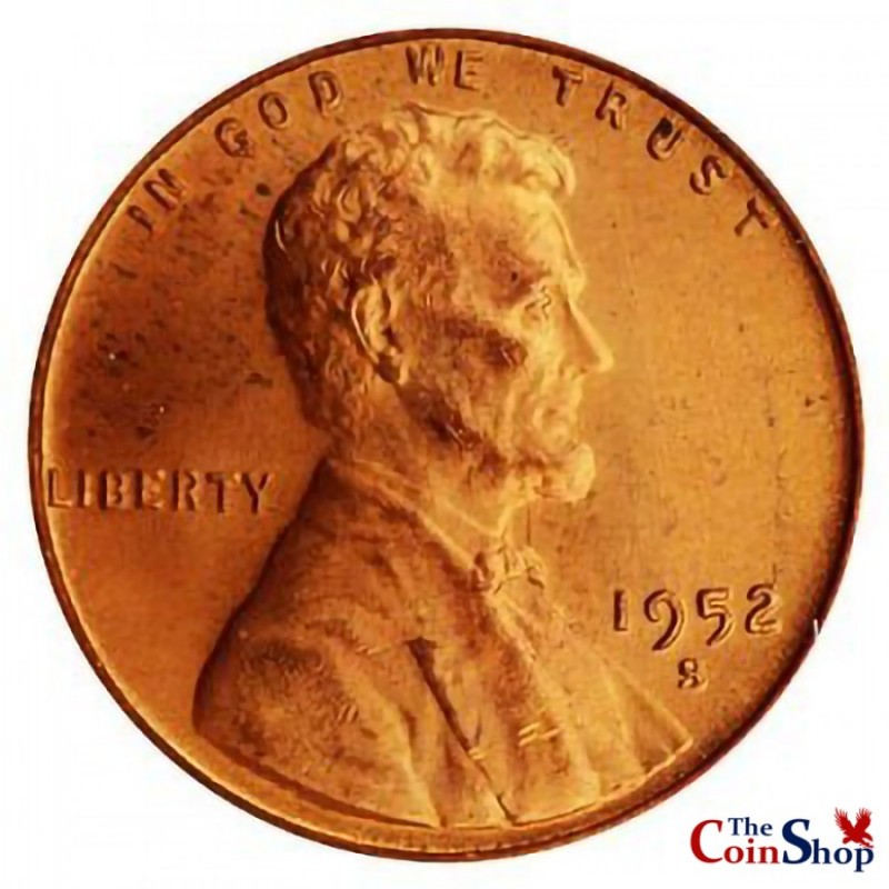 1952-S Lincoln Wheat Cent