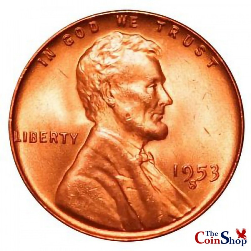 1953-S Lincoln Wheat Cent