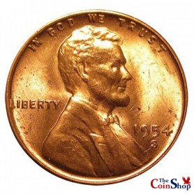 1954-S Lincoln Wheat  Cent