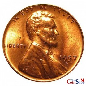 1957-D Lincoln Wheat Cent