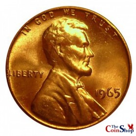 1965-P SMS Lincoln Memorial Cent (Special Mint Strike)