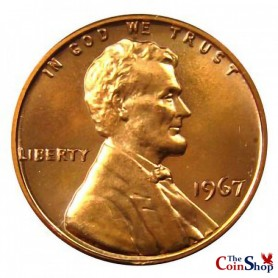 1967-P SMS Lincoln Memorial Cent (Special Mint Strike)