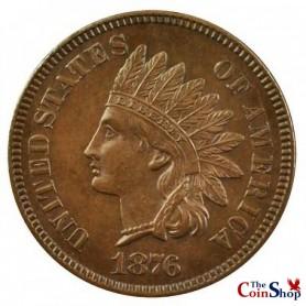 1876 Indian Head Cent Semi-Key Date