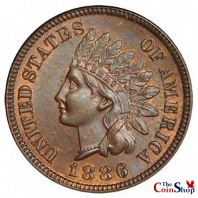 1886 Type 1 Indian Head Cent