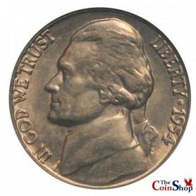 1954-S Jefferson Nickel