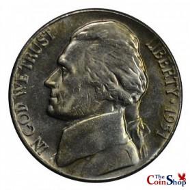 1951-P Jefferson Nickel