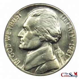 1981-D Jefferson Nickel