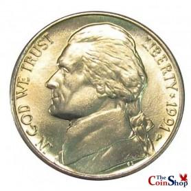 1991-P Jefferson Nickel