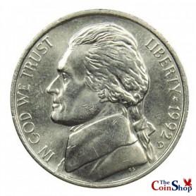 1992-D Jefferson Nickel