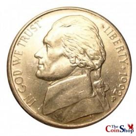 1992-P Jefferson Nickel