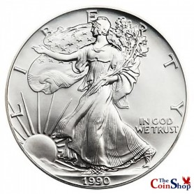 1990 American Silver Eagle BU