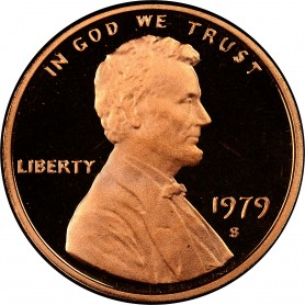 """1979-S Lincoln Memorial Cent Type 2 Clear """"S"""""""