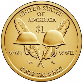 2016-P Code Talkers Sacagawea Dollar