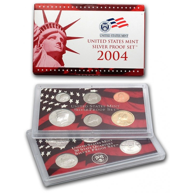 2004-S US PROOF LINCOLN CENT FROM US PROOF SET