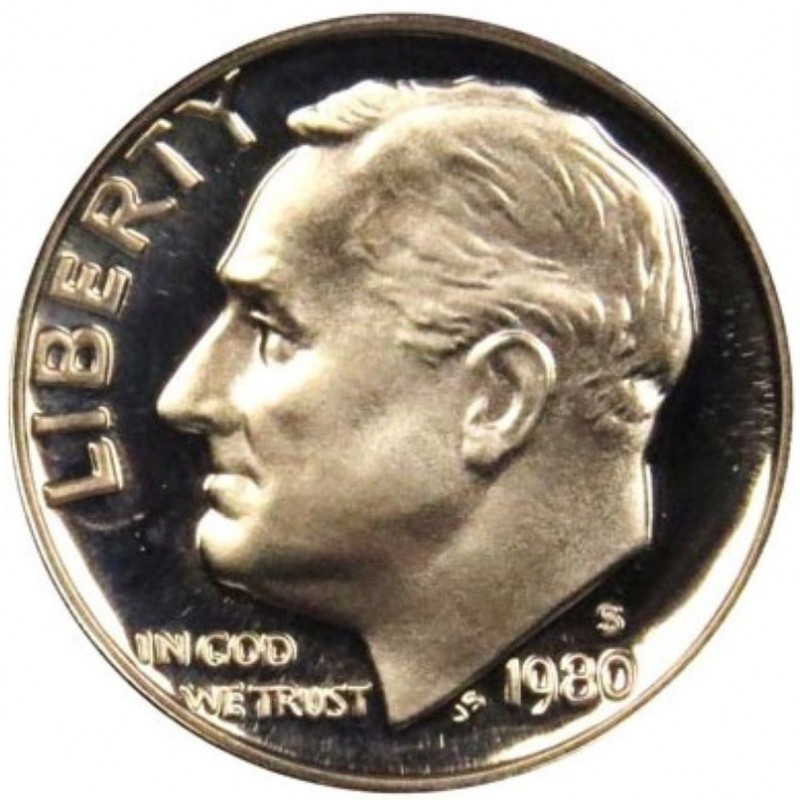 1980-S Roosevelt Dime Proof