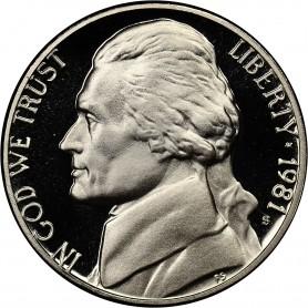 "1981-S Jefferson Nickel Type 1 Filled ""S"""