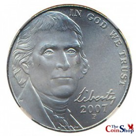 2007-P Jefferson Nickel