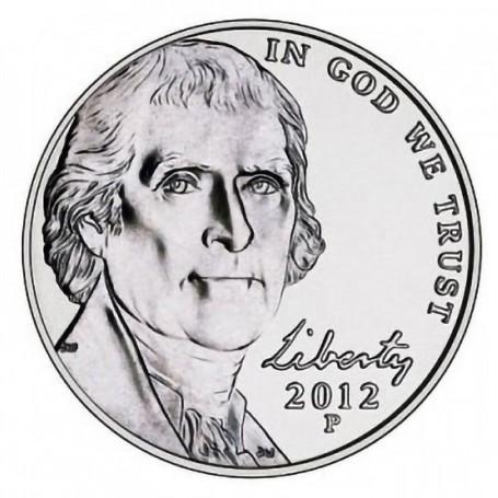 2012-P Jefferson Nickel