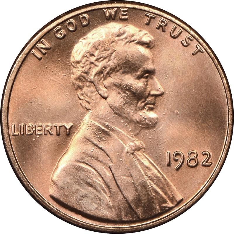 1982-P Large Date Zinc Lincoln Cent
