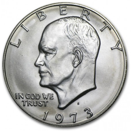 1973 S Eisenhower Dollar PROOF Silver Ike $ 1973 US Mint 40/% Silver Coin