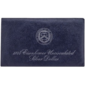 1974-S Eisenhower Silver Dollar Blue Mint Pack 40% Silver