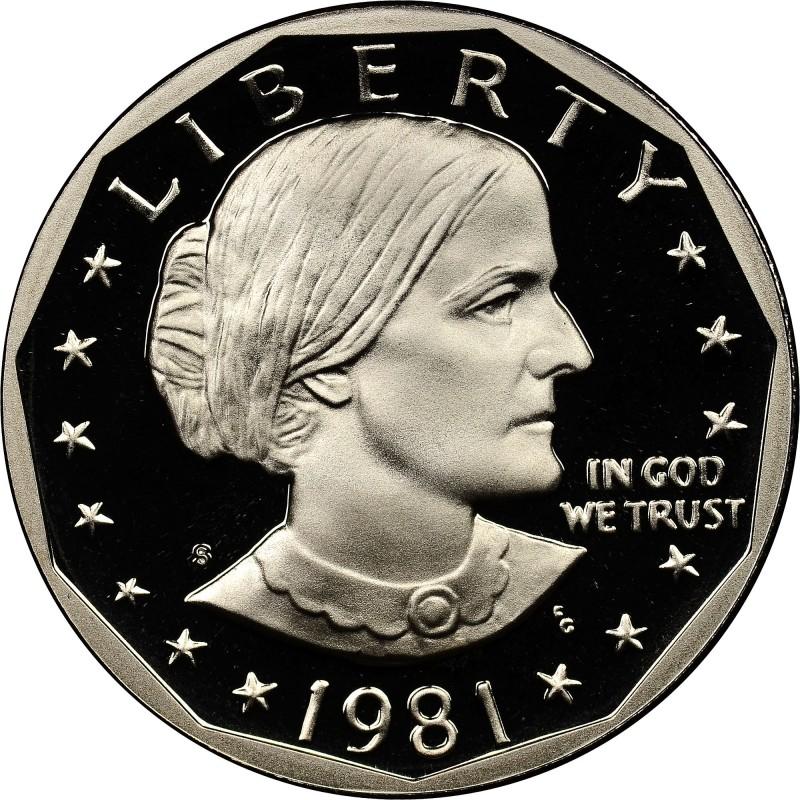 1981-S Type 1 Proof Susan B Anthony Dollar