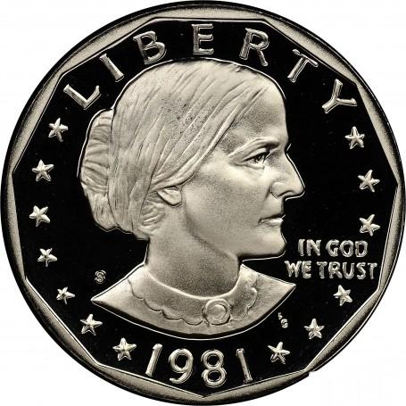 ANTHONY DOLLAR 1981-S PROOF SUSAN B