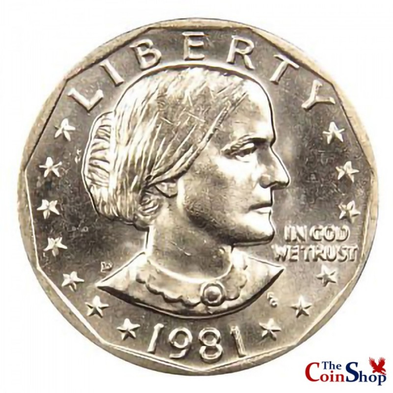 1981-D Susan B Anthony Dollar