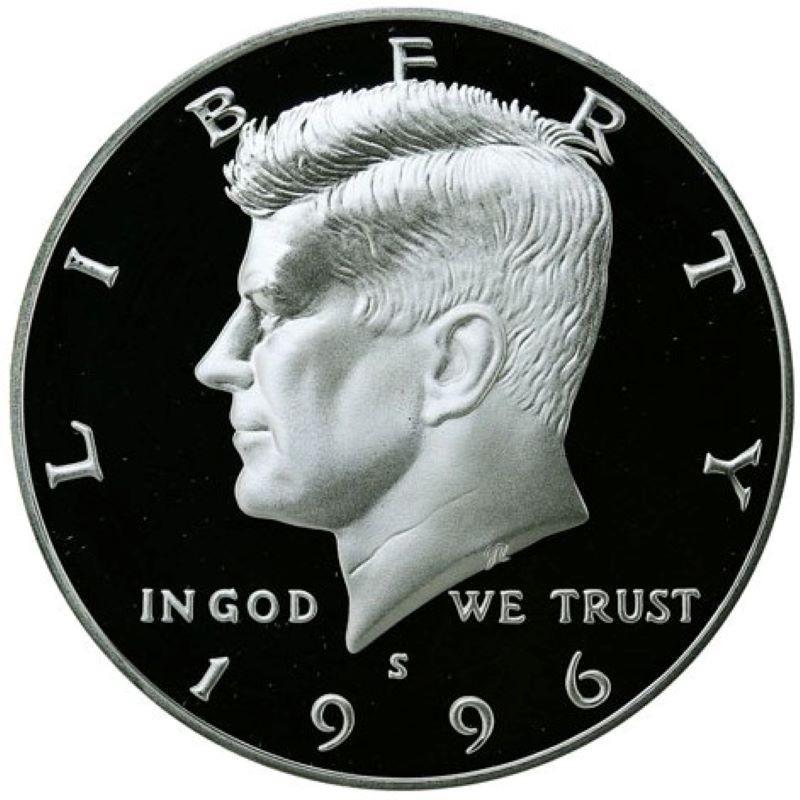 1996-S Kennedy Half Dollar 90% Silver Proof