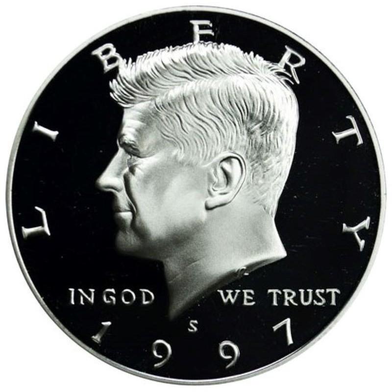 1997-S Kennedy Half Dollar 90% Silver Proof
