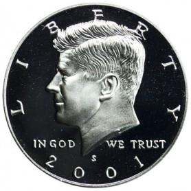 2001-S Silver Kennedy Half Dollar Proof
