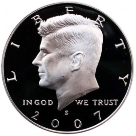 2007-S Silver Kennedy Half Dollar Proof