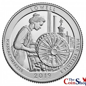 2019-S Lowell National Historical Park Proof Quarter
