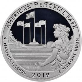 2019-S American Memorial Park Silver Proof Quarter