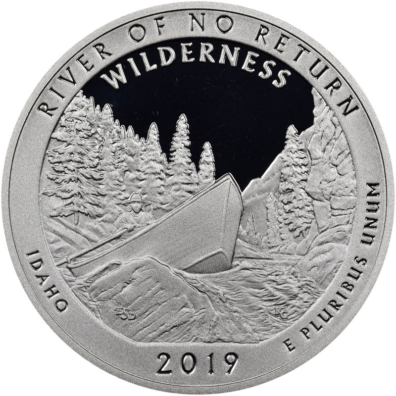 2019-S Frank Church River Of No Return Wilderness Silver Proof Quarter