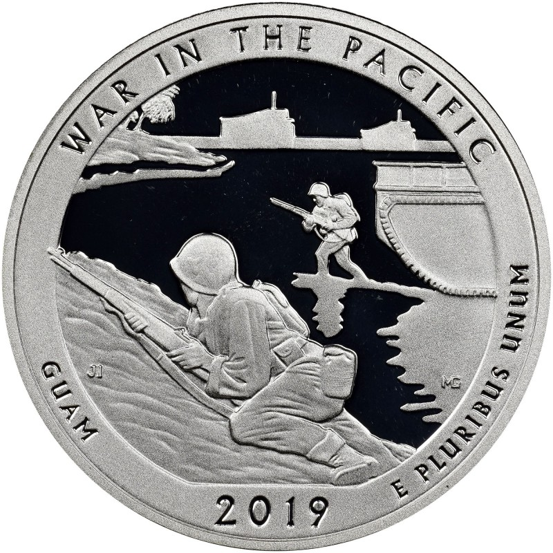 2019-S War in the Pacific National Historical Park Silver Proof Quarter