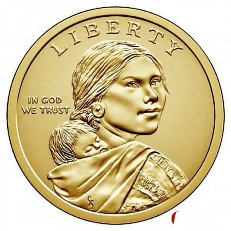 Sacagawea//Golden D Native American Dollar 2 Coin Set Uncirculated 2006 P