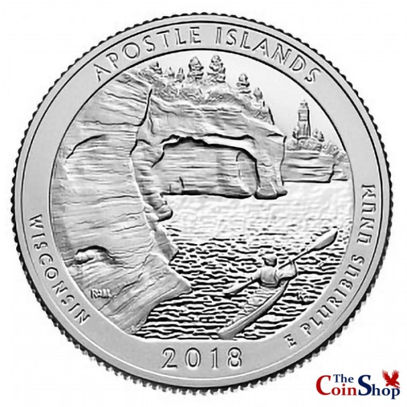 2018-S Proof Apostle Islands National Lakeshore Quarter