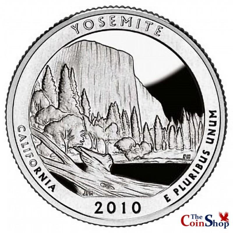2010-S Silver Yosemite National Park Quarter Proof