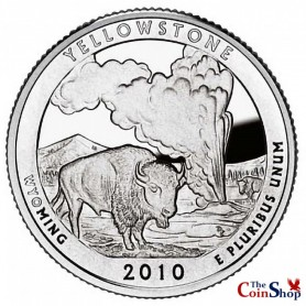 2010-S Silver Yellowstone National Park Quarter Proof