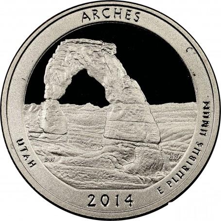 2014-S Arches National Park Quarter Proof
