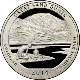 2014-S Proof Great Sand Dunes National Parks Quarter