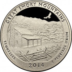 2014-S Proof Great Smoky Mountains National Parks Quarter