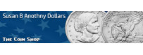 Susan B Anthony Dollars  (1979-81, 1999)  | The Coin Shop